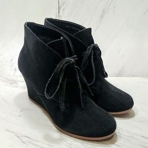 Dolce Vita Wedge Lace Up Booties
